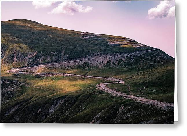 Transalpina Road - Romania - Travel Photography Greeting Card by Giuseppe Milo