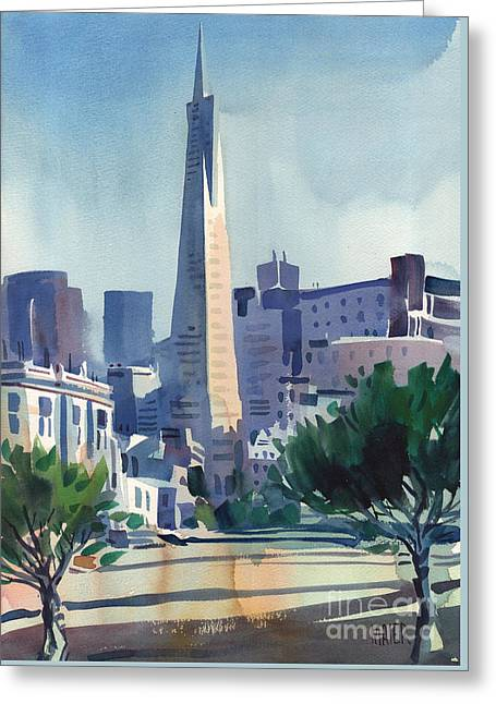Transamerica Building Greeting Card by Donald Maier