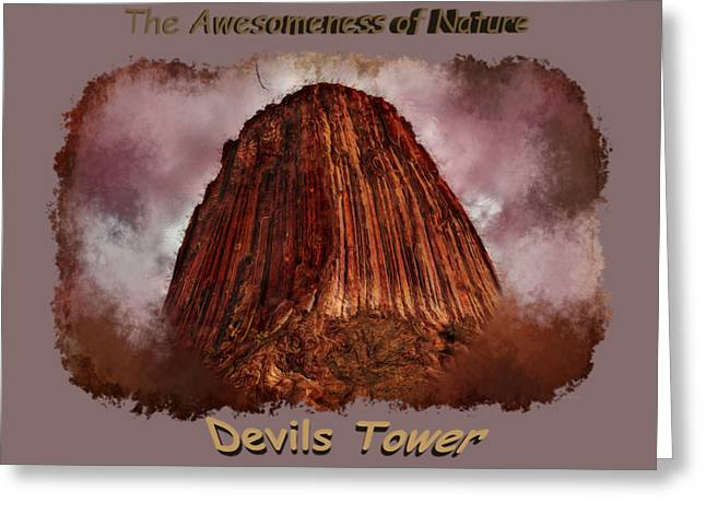 Transcendent Devils Tower 2 Greeting Card