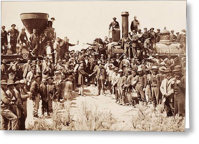 Transcontinental Railroad - Golden Spike Ceremony Greeting Card