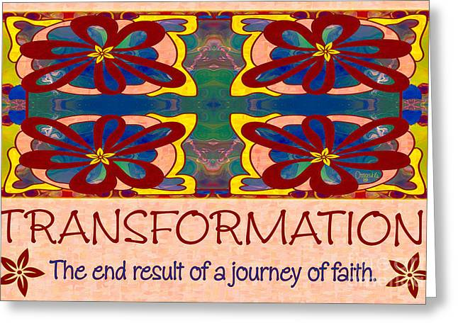 Transformation Motivational Artwork By Omashte Greeting Card