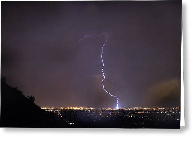 It's A Hit Transformer Lightning Strike Greeting Card by James BO Insogna
