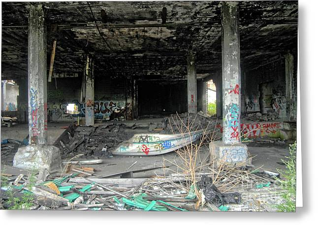 Apocalypse Detroit 1 Greeting Card by Walter Oliver Neal