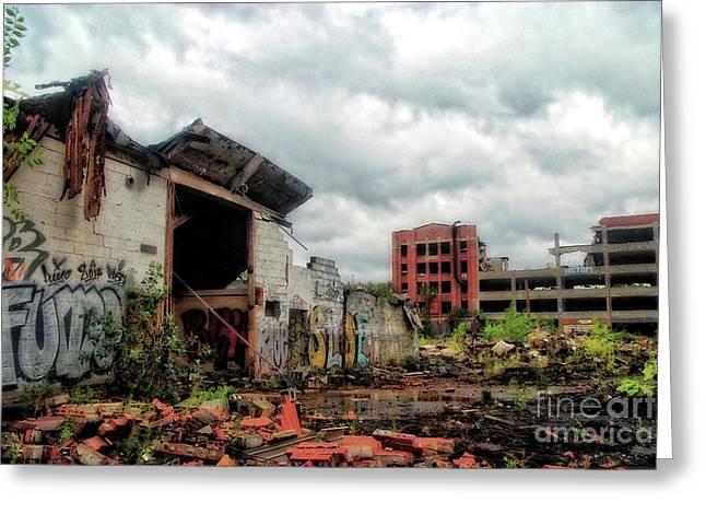 Apocalypse Detroit 2 Greeting Card