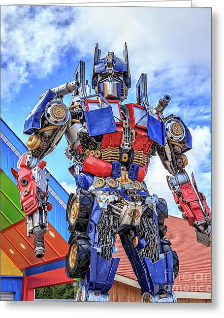 Transformers Optimus Prime Or Orion Pax Greeting Card by Edward Fielding