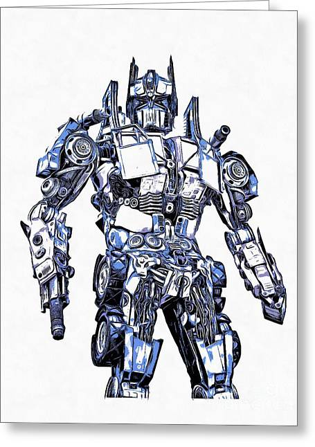 Transformers Optimus Prime Or Orion Pax Graphic  Greeting Card by Edward Fielding