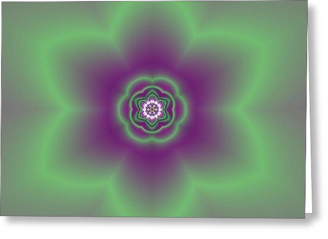 Transition Flower 6 Beats 2 Greeting Card