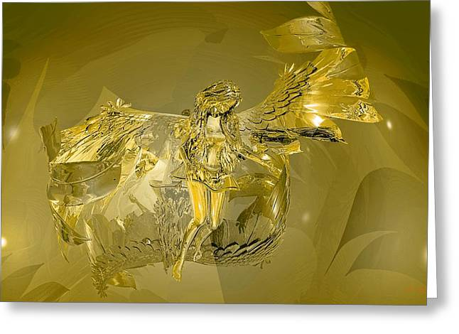 Transparent Gold Angel Greeting Card