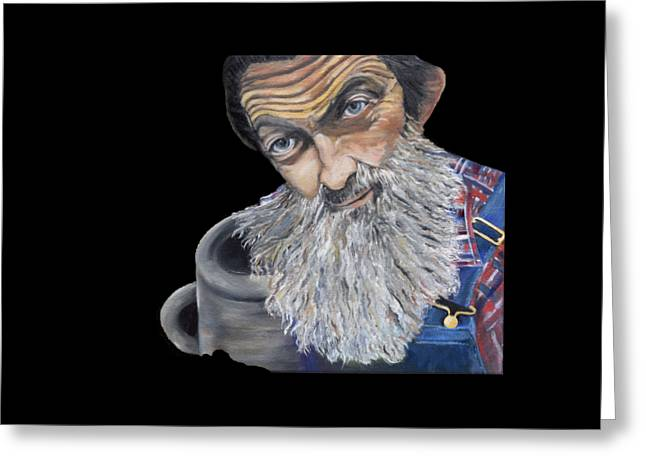 Popcorn Sutton Shines With Transparent Background -for T-shirts And Other Fabric Items- Moonshine Greeting Card
