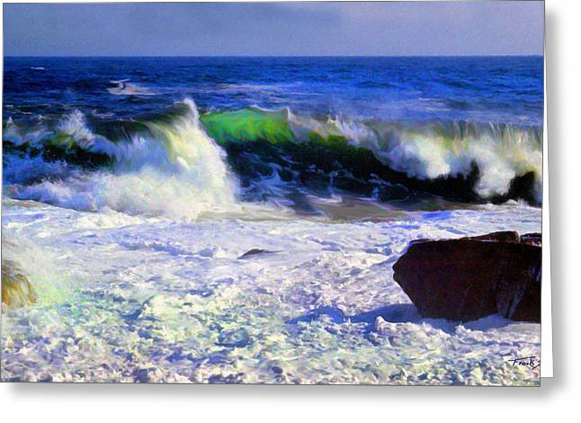 Transparent Wave Greeting Card by Frank Wilson