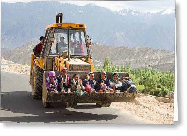 Transport In Ladakh, India Greeting Card