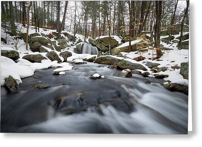 Greeting Card featuring the photograph Trap Falls Winter by Brian Hale
