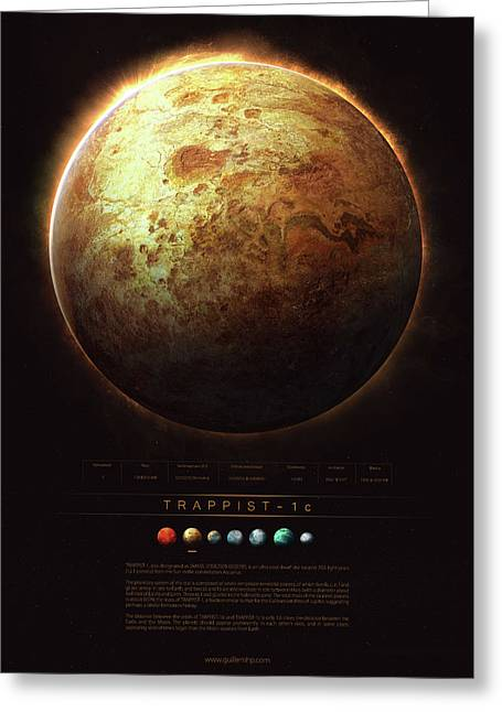 Trappist-1c Greeting Card by Guillem H Pongiluppi