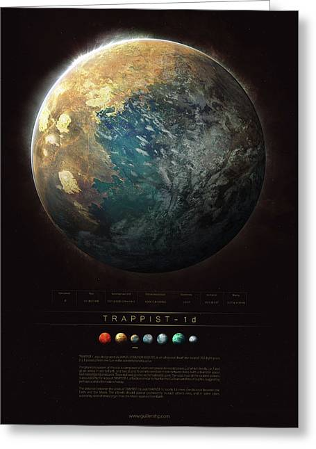 Trappist-1d Greeting Card by Guillem H Pongiluppi