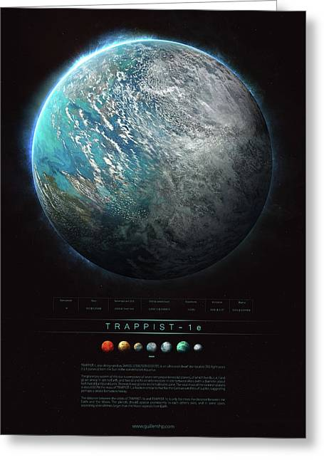 Trappist-1e Greeting Card by Guillem H Pongiluppi