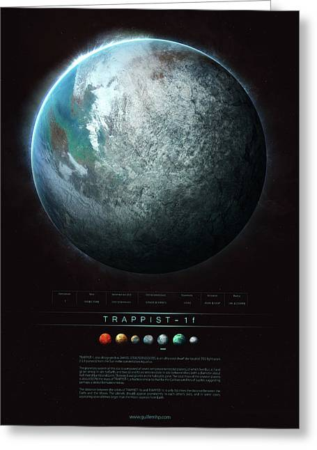 Trappist-1f Greeting Card by Guillem H Pongiluppi