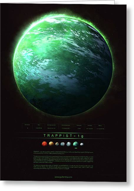 Trappist-1g Greeting Card by Guillem H Pongiluppi
