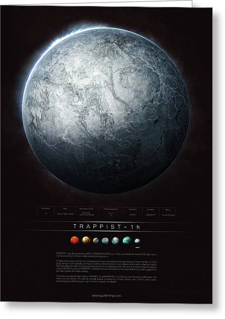 Trappist-1h Greeting Card by Guillem H Pongiluppi