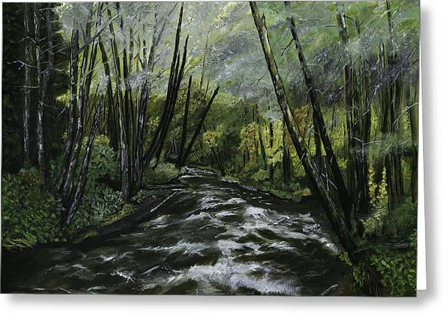 Trask River Greeting Card