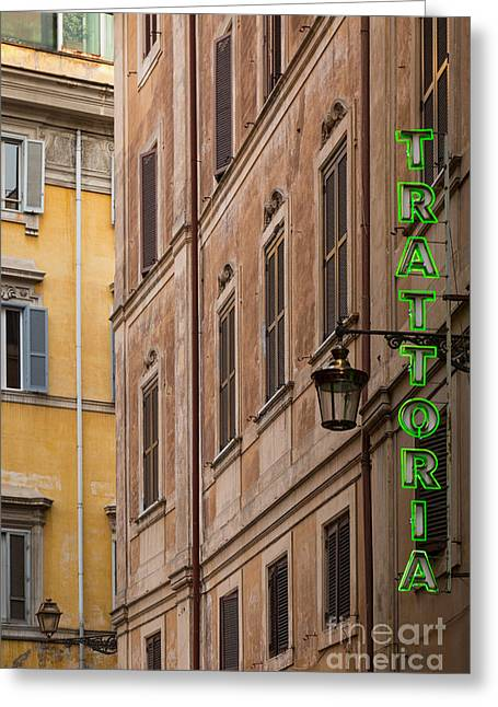 Trattoria - Rome Greeting Card by Richard Thomas