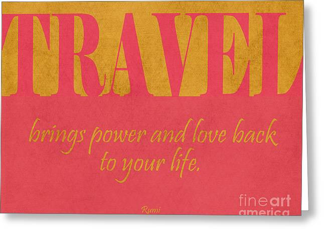 Travel And Love Greeting Card