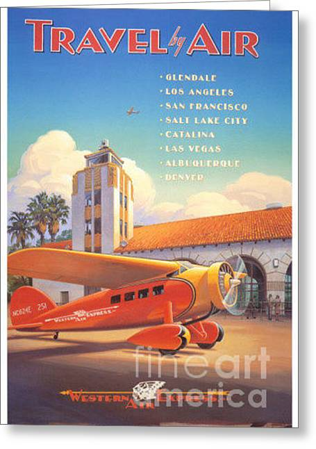 Travel By Air Greeting Card
