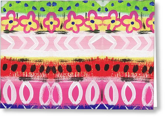 Southwest Jubilee- Art By Linda Woods Greeting Card