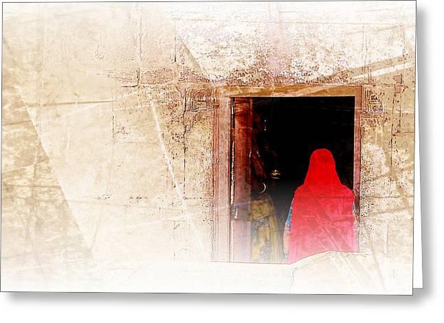 Travel Exotic Women Portrait Mehrangarh Fort India Rajasthan 1a Greeting Card