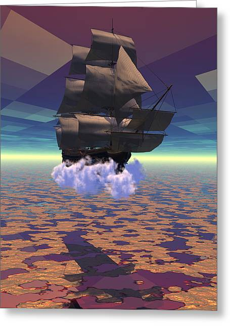 Travel In Another Dimension Greeting Card by Claude McCoy