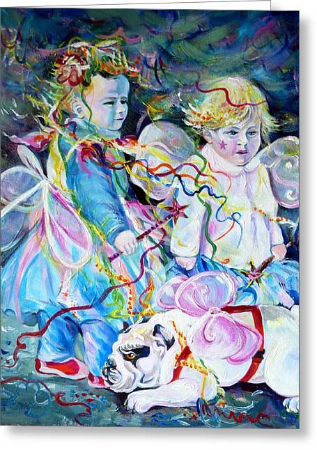 Travel Notebook. Nice Carnival. Fairies Greeting Card by Anna  Duyunova