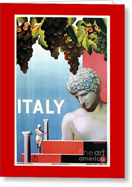 Travel To Italy In 1935 Greeting Card
