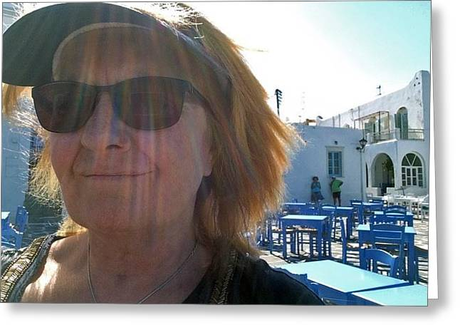 Travel To Paros Island Greece  Greeting Card by Colette V Hera  Guggenheim
