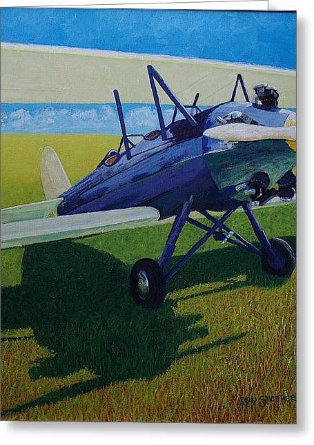 Travelair In The Sun Greeting Card