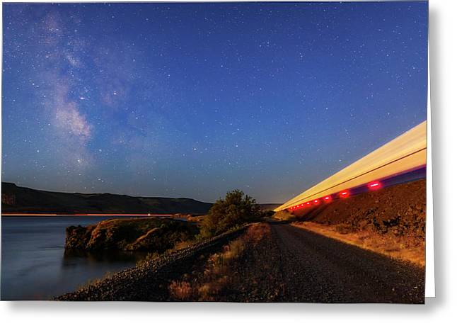Greeting Card featuring the photograph Traveling At The Speed Of Light by Cat Connor