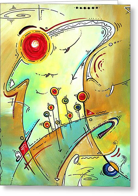 Licensor Greeting Cards - Traveling Band Original Painting MADART Greeting Card by Megan Duncanson