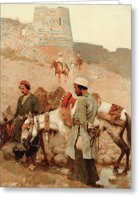 Traveling In Persia Greeting Card by Edwin Lord Weeks
