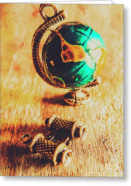 Travellers Globe Greeting Card by Jorgo Photography - Wall Art Gallery