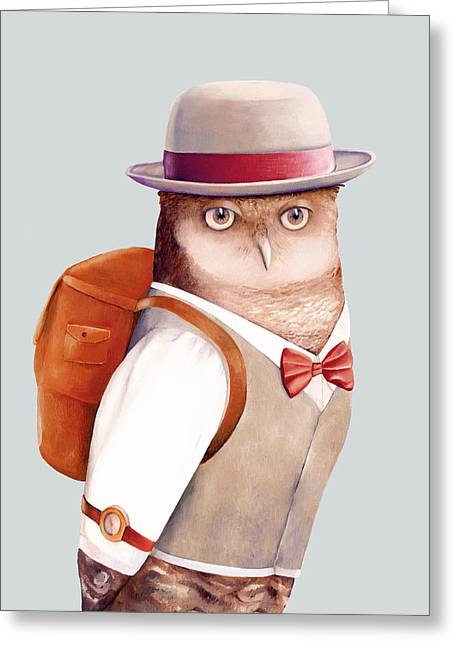 Travelling Owl Greeting Card