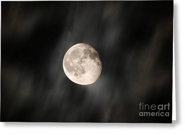 Travelling With Moon Greeting Card by Manjot Singh Sachdeva