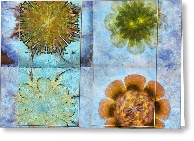 Travelogues Configuration Flower  Id 16165-223109-65251 Greeting Card by S Lurk