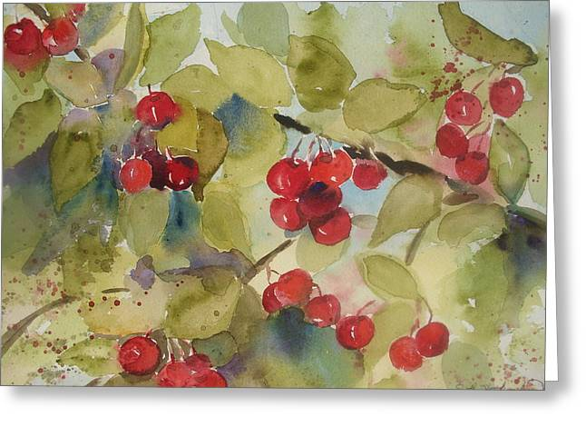 Traverse City Cherries Greeting Card