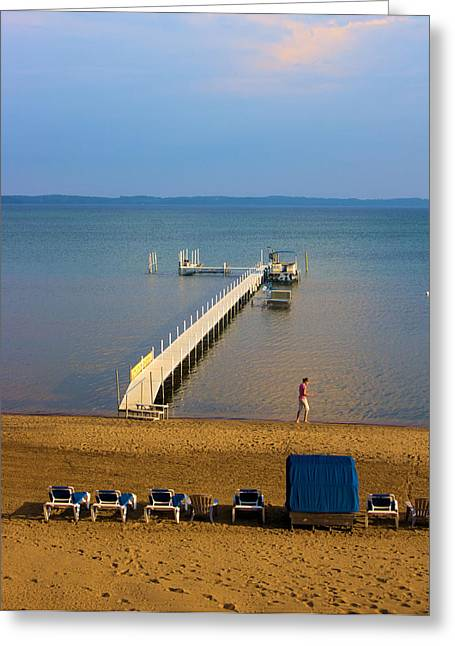 Traverse City East Bay Greeting Card by Don  Vella