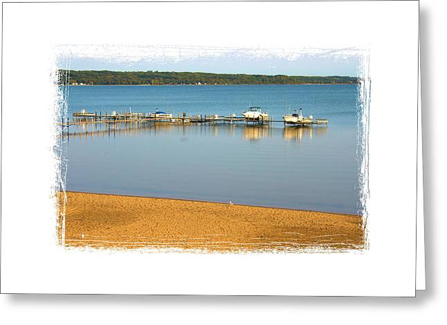 Traverse City East Bay II Greeting Card by Don  Vella
