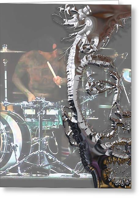 Travis Barker Blink 182 Collection Greeting Card by Marvin Blaine