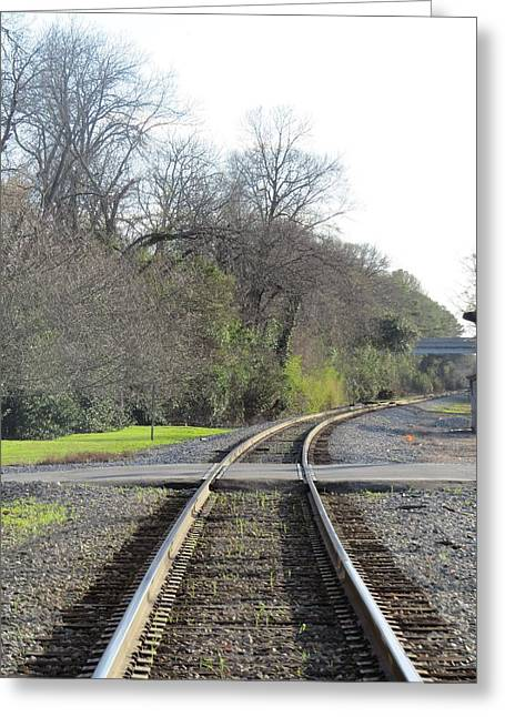 Greeting Card featuring the photograph Trax Bend by Aaron Martens