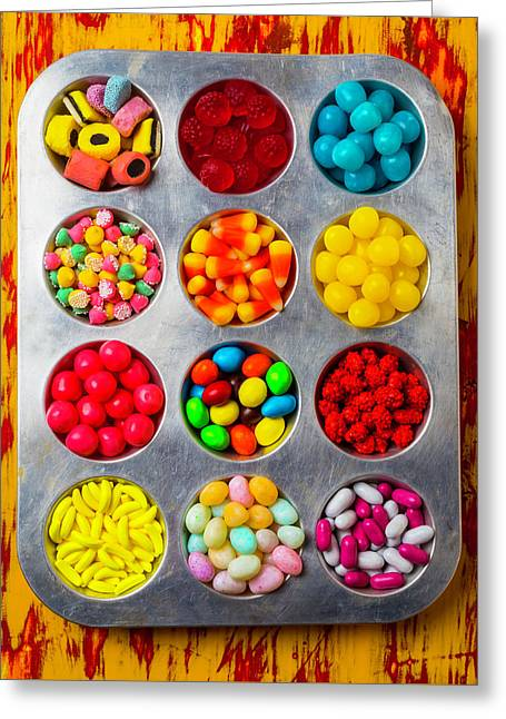 Tray Full Of Candy Greeting Card by Garry Gay