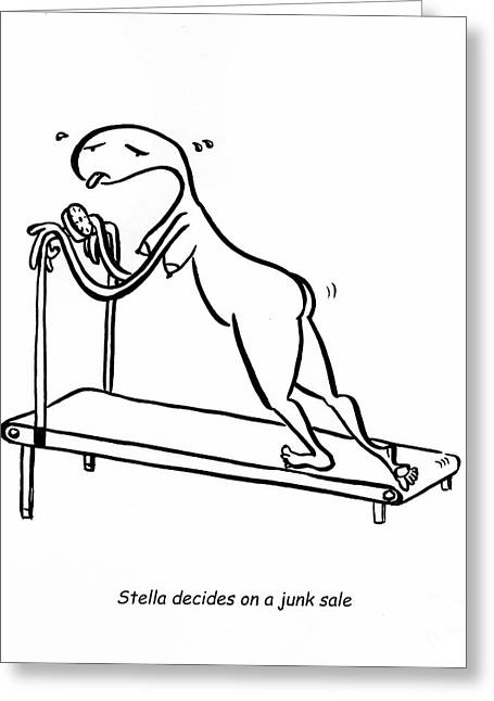 Treadmill Greeting Card
