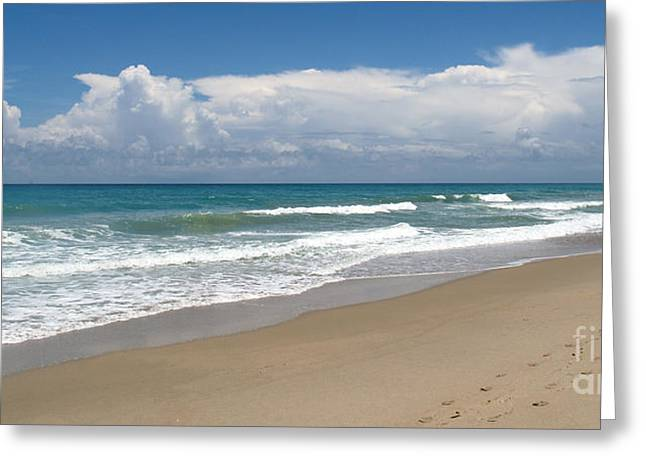 Treasure Coast Beach Florida Seascape C4 Greeting Card by Ricardos Creations