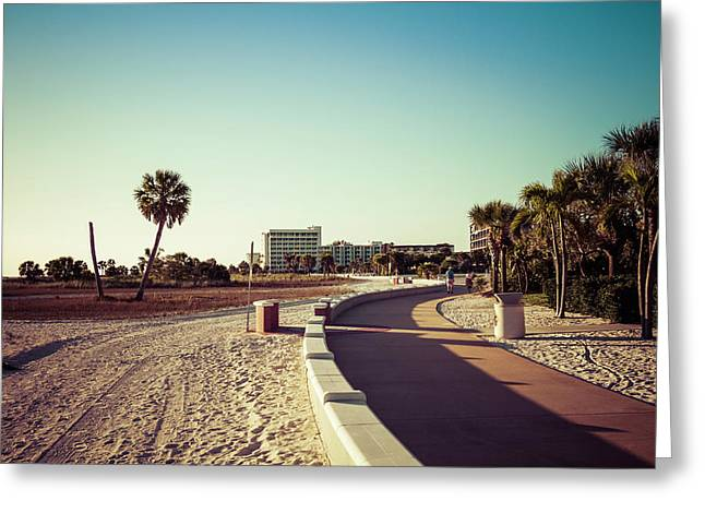 Greeting Card featuring the photograph Treasure Island Beach Trail by Joel Witmeyer