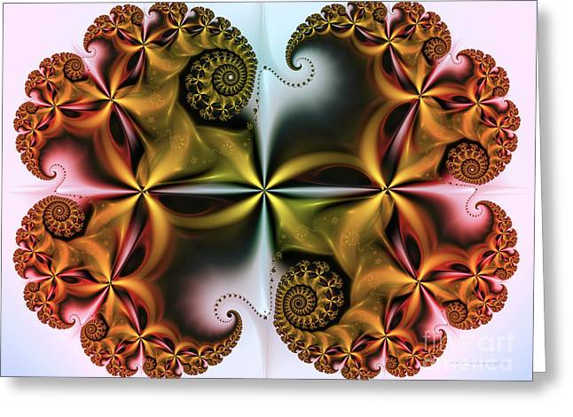 Greeting Card featuring the digital art Treasure by Karin Kuhlmann
